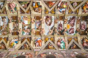 Sistina Şapeli'nin Michelangelo tarafından boyanan tavanı - Vatikan Müzesi
