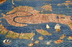 Vatikan Haritalar Galerisi sonunda yer alan panoramik Venedik Haritası
