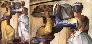 Holofernis'İn kesik başı - detay