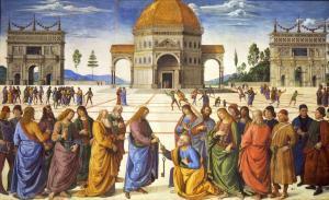 İsa'nın Aziz Petrus'a cennetin anahtarlarını teslimi.
