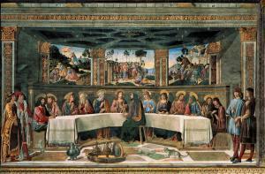 İsa'nın Son Yemeği freski - Cosimo Rosselli.
