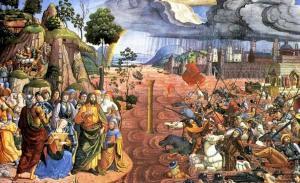 Musa'nın Kızıldeniz'i Geçmesi Freski