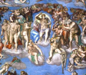 Son Yargı - Kıyamet Günü Freski'nin merkezindeki İsa ve çevresi