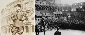 Benito Mussolini Kolezyum'da faşistlere hitap ediyor