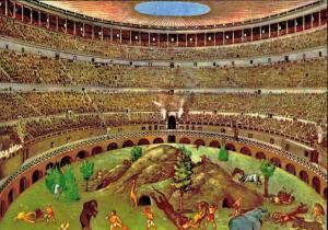 Kolezyum'un açılışı yüzlerce gün süren oyunlarla kutlanmıştır.